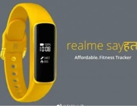 Realme fitness band image spotted online ahead of the launch