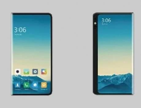 Xiaomi smartphone with three-sided surround screen hinted