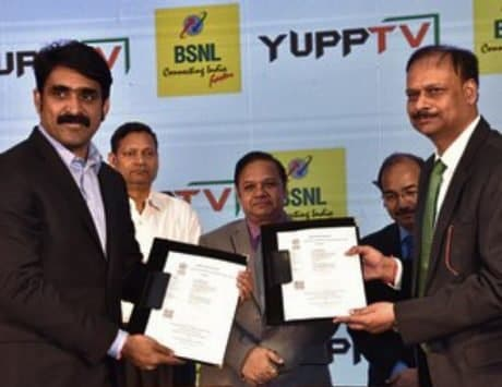 BSNL and YuppTV enter partnership to launch triple play services