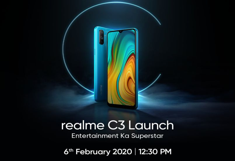 Realme C3 confirmed to launch in India on February 6; Official invite out