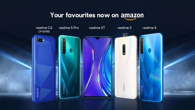 Realme X, XT, 5 Pro, Realme 5 and Realme C2 now available on Amazon India
