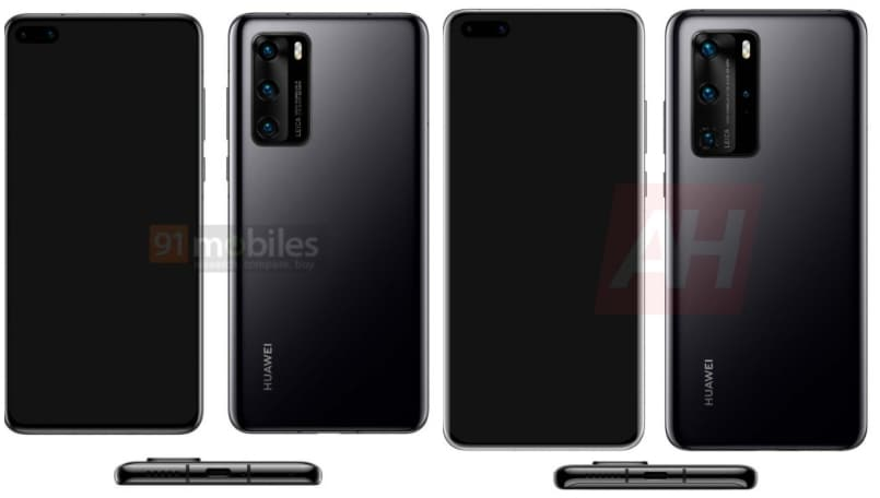 Huawei P40, P40 Pro spotted online; design revealed in new renders