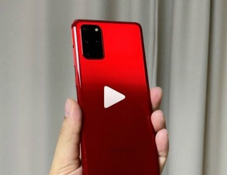Samsung Galaxy S20+ red color model hands-on video leaked