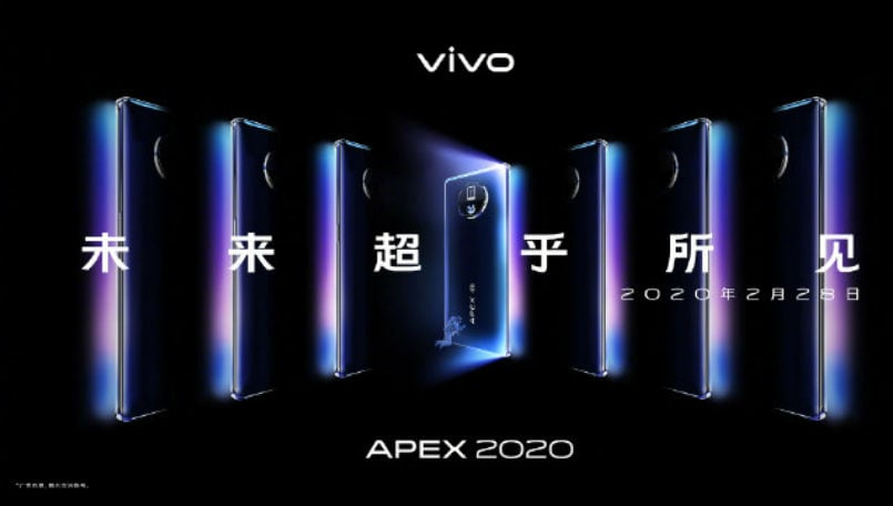 Vivo APEX 2020 concept phone launched with 60W wireless charging, waterfall display