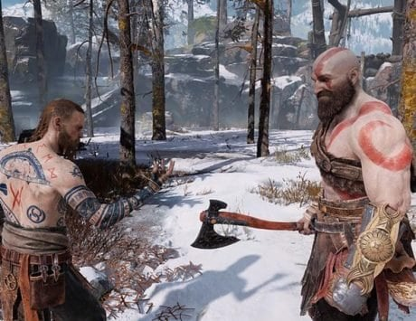 God of War hack shows that an enemy flips you off for defeating them