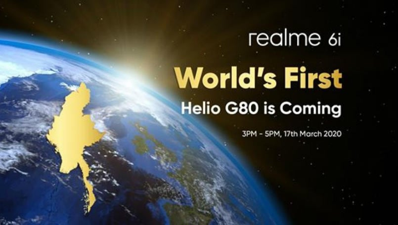 Realme 6i to launch with MediaTek Helio G80 chipset on March 17