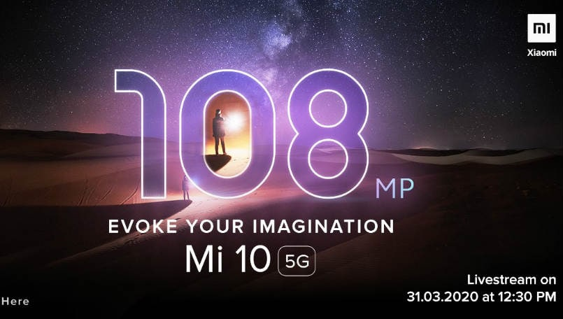Xiaomi Mi 10 India launch on March 31: Offers, specifications, expected price