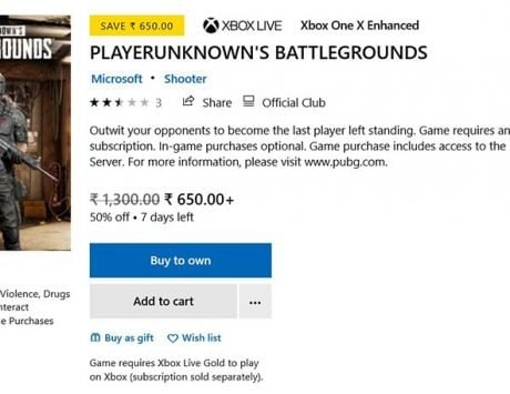 PUBG available for 50 percent discount on Xbox Store