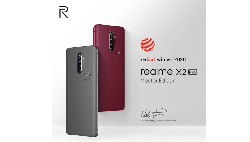 Realme X2 Pro Master Edition gets Red Dot Design award
