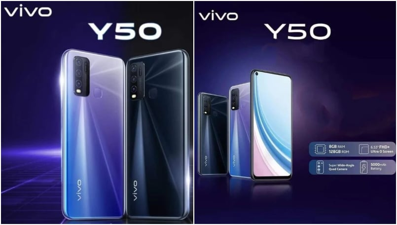 Vivo Y50 renders, specifications, and price surface ahead of imminent launch
