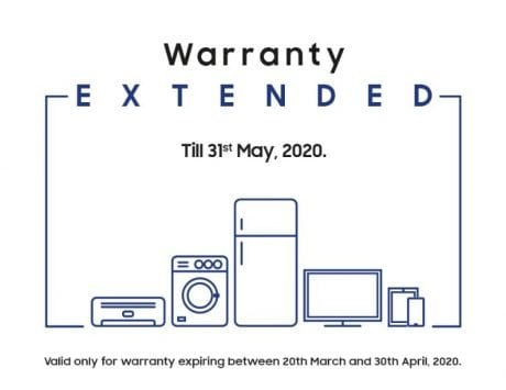 Samsung extends warranty on all its products till May 31