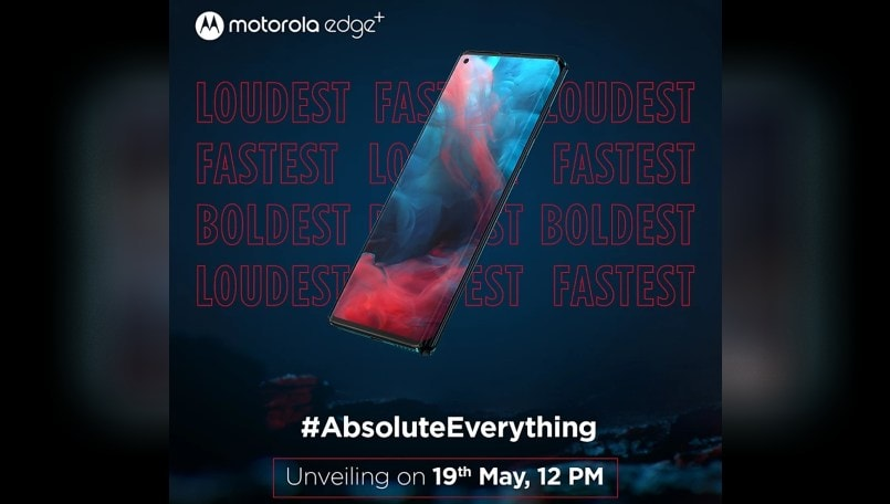 Motorola Edge+ India launch tomorrow at 12PM, coming to Flipkart