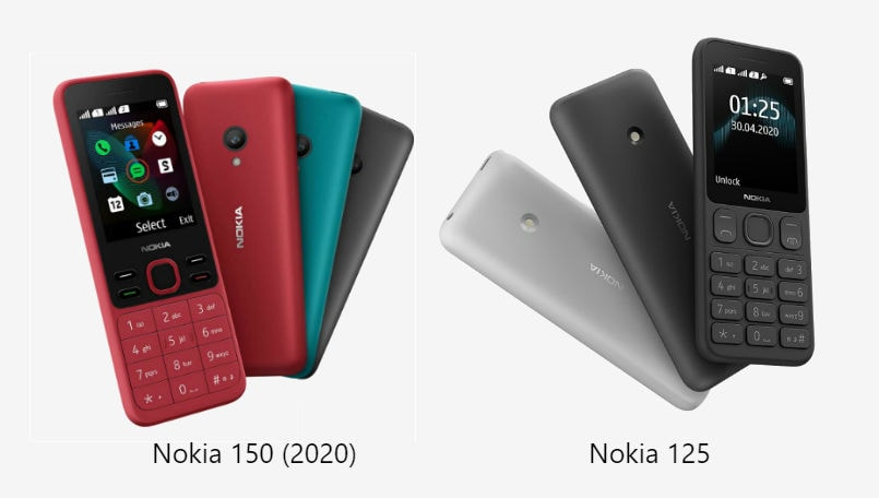 Nokia 125, Nokia 150 (2020) feature phones launched: Check details
