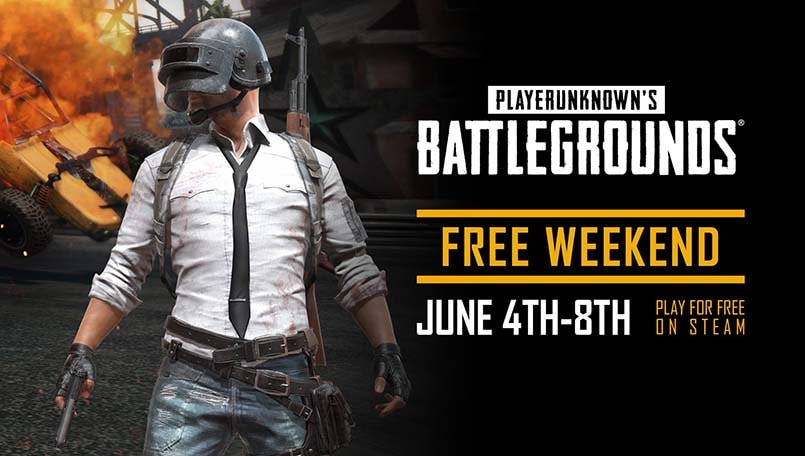 PUBG PC getting a free weekend on Steam from June 4