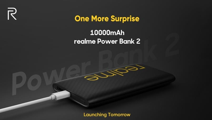Realme Power Bank 2 with 10,000mAh launching tomorrow