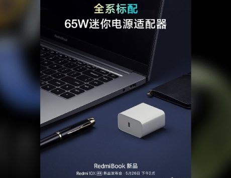RedmiBook laptop to launch with 65W charging adaptor on May 26