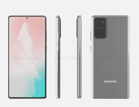 Samsung Galaxy Note 20 design renders leaked