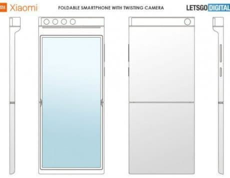 Xiaomi patents a foldable smartphone with a clamshell display