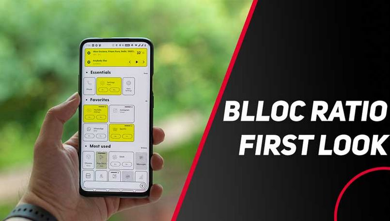 Blloc Ratio: A radical take on your smartphone experience
