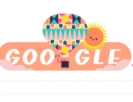 Google Doodle marks the onset of summer
