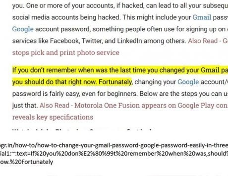 Here's how to create a link to text on a page on Chrome