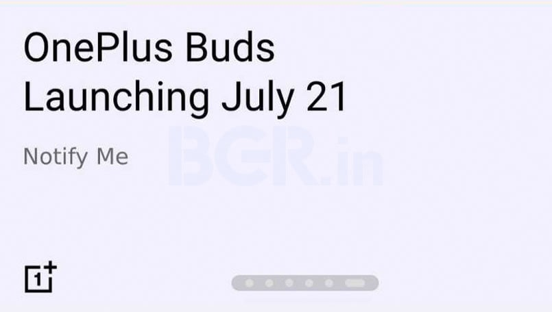 OnePlus Buds listed on Flipkart ahead of the July 21 launch; to feature Warp Charge