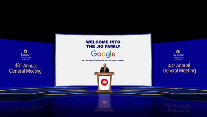 Reliance AGM 2020: Google joins as a strategic partner and investor with a Rs 33,737 crore investment