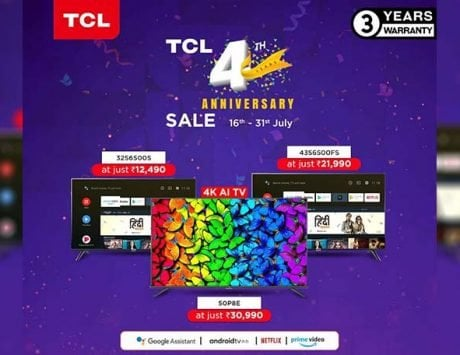 TCL is offering discounts on its Smart TVs to celebrate its fourth anniversary