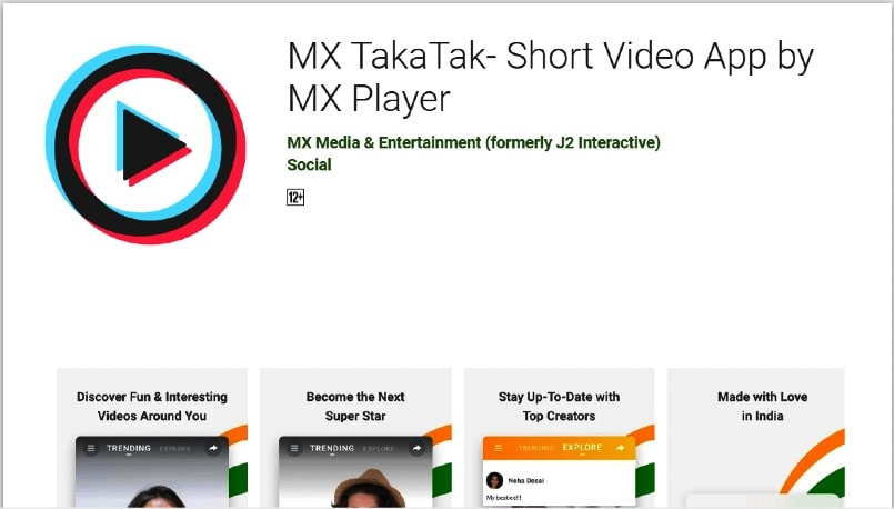 TakaTak app is TikTok rival from MX Player; Available on Google Play store
