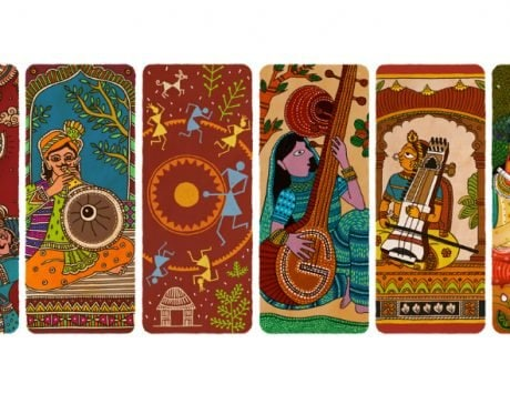 Google Doodle celebrates India   s musical legacy on Independence Day