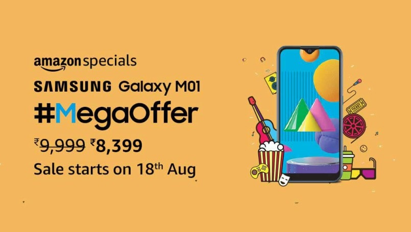 Samsung Galaxy M01 now available on Amazon India with Rs 600 discount