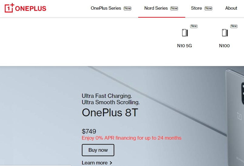 OnePlus Nord N10 5G, Nord N100 listed on OnePlus website ahead of launch