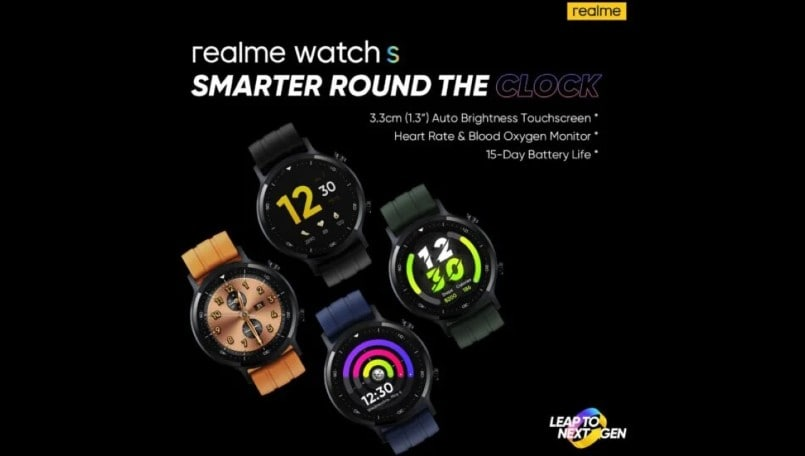 Realme Watch S set to launch on November 2, design revealed