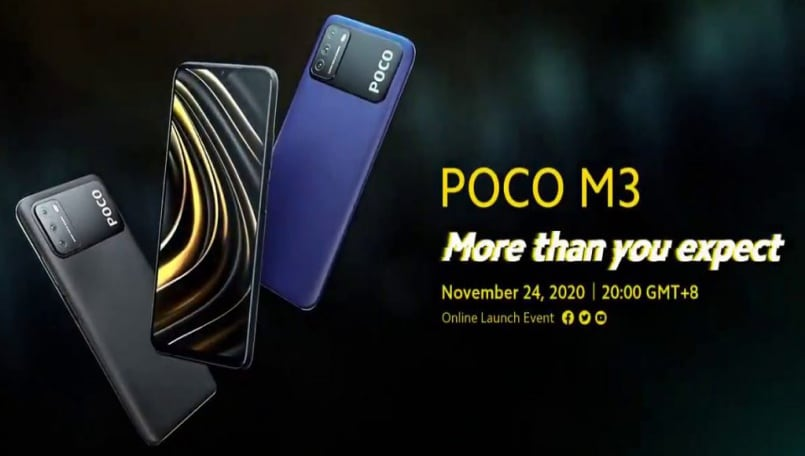 Poco M3 key specifications, design revealed officially ahead of launch