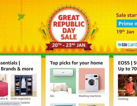 Amazon Republic Day Sale 2021 starts on January 20, discounts on more than 4000 items