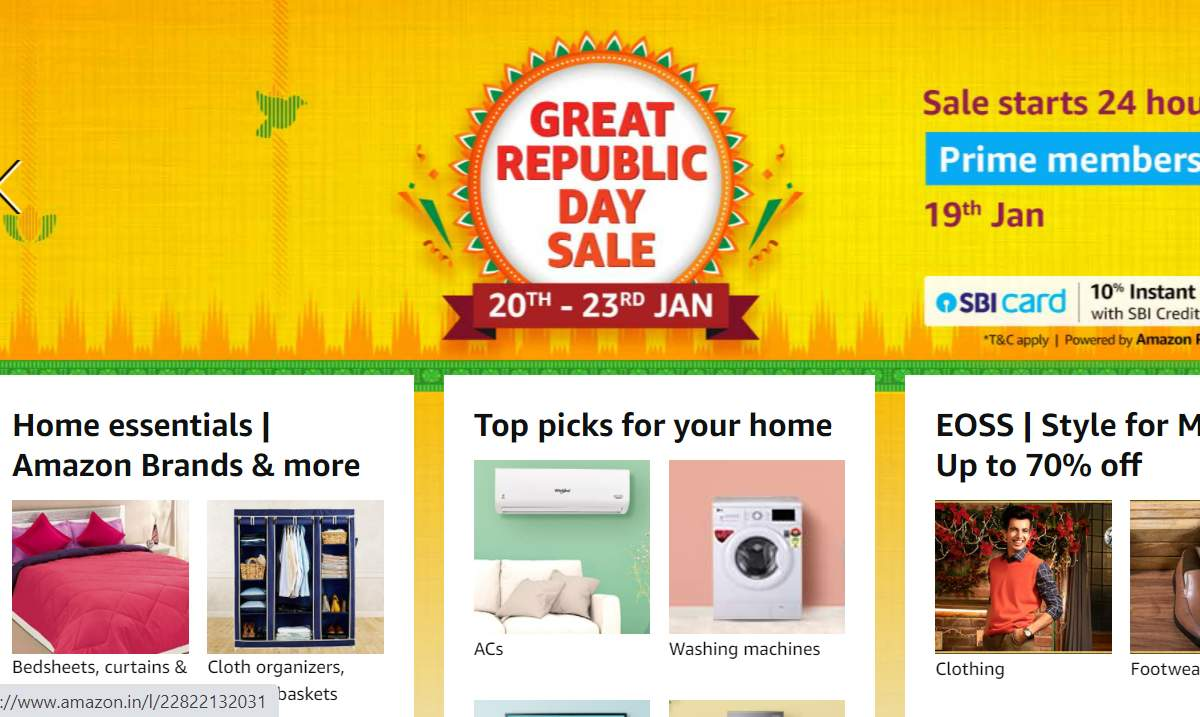 Amazon Republic Day Sale begins for Prime members: Discounts on smartphones, TVs and more