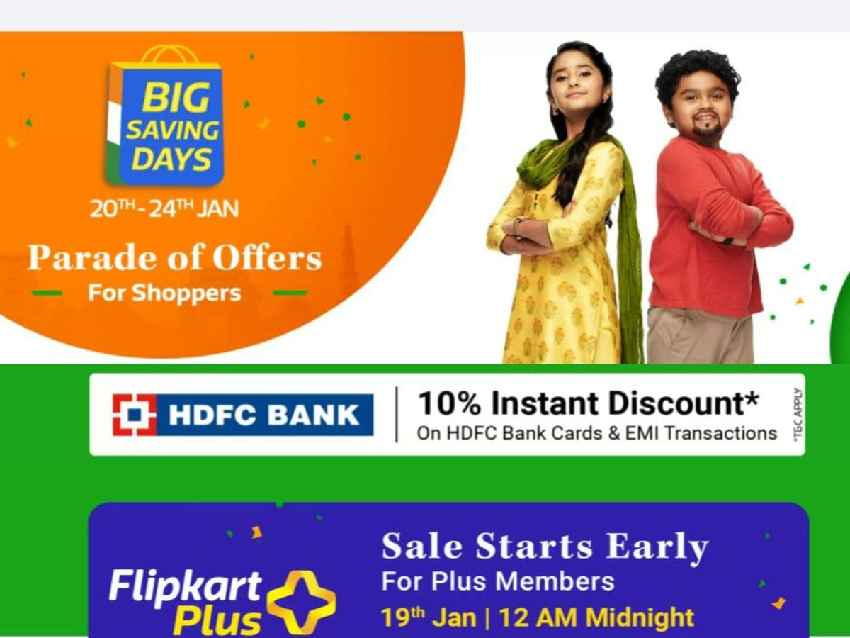 Flipkart Big Saving Days sale: Discounts on mobiles, laptops, TVs and more