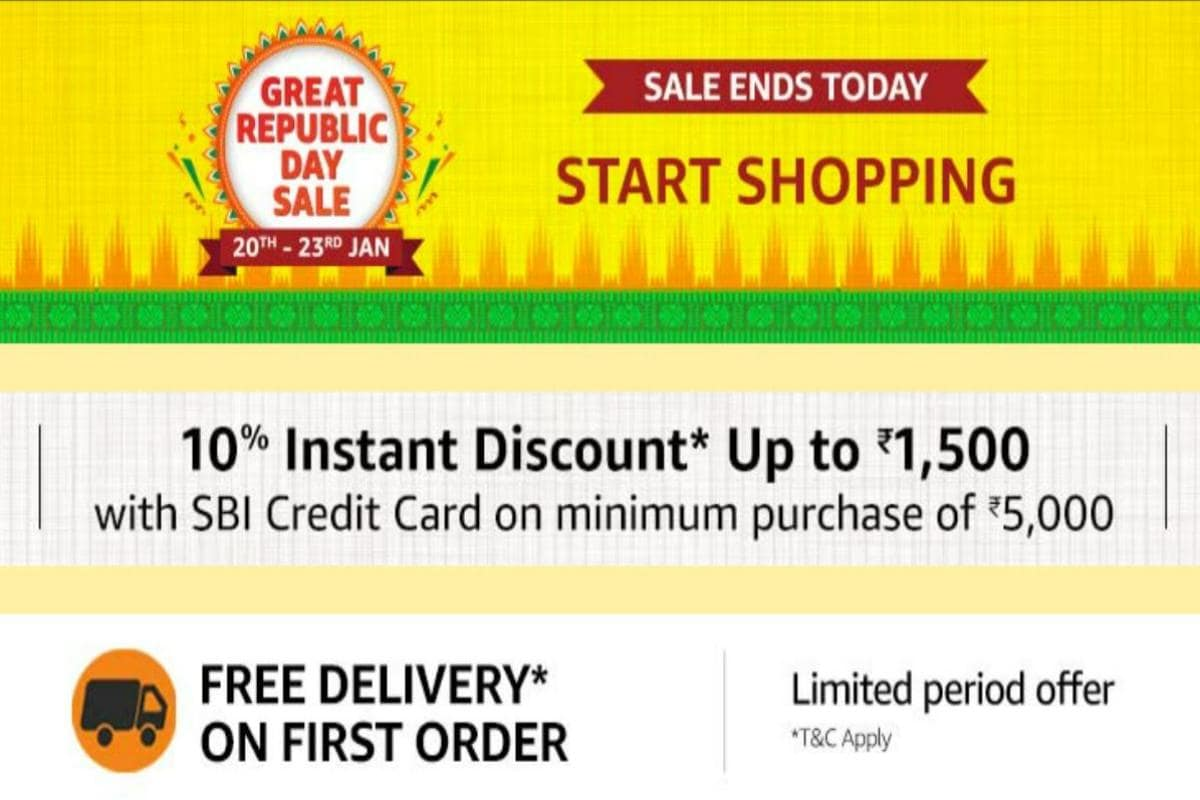 Amazon Great Republic Day sale ends today: Discounts on mobiles, TVs and more