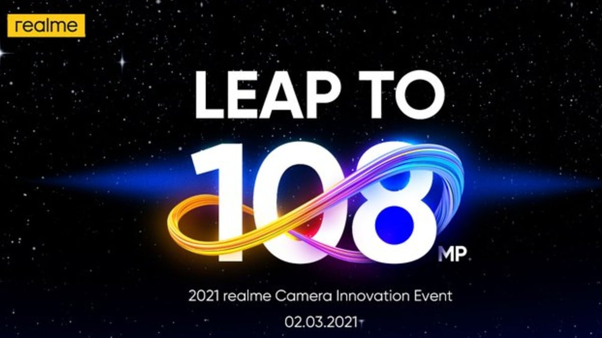 Realme confirms 108MP camera event on March 2 for Realme 8 series launch
