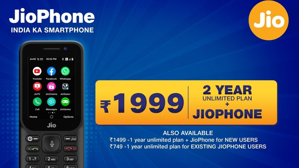 New JioPhone 2021 offer: Reliance Jio offers JioPhone, unlimited voice calls and data for 2 years at Rs 1,999