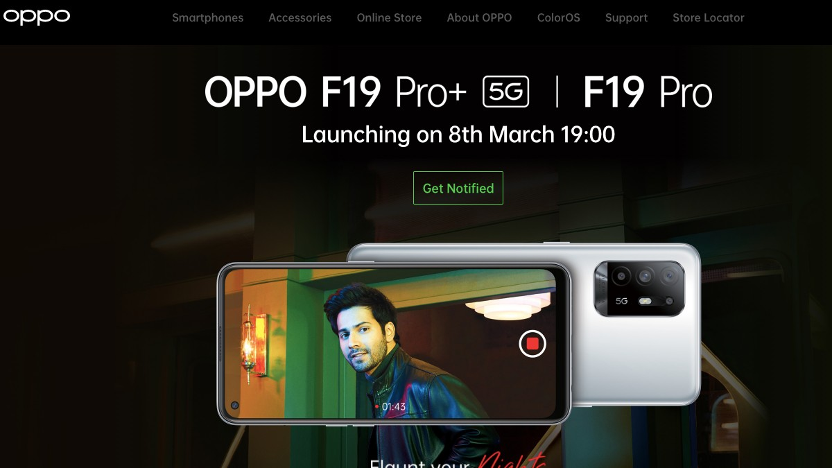 Oppo F19 Pro, F19 Pro+, Style Band to launch in India on March 8: Expected price, specifications