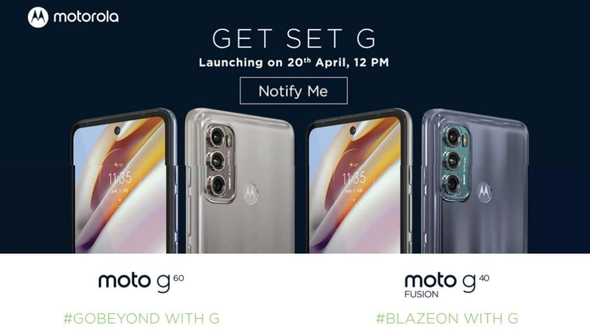 Moto G60, Moto G40 Fusion India launch set for April 20 via Flipkart, key specs revealed
