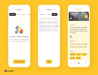 Bumble introduces new Interest Badges feature