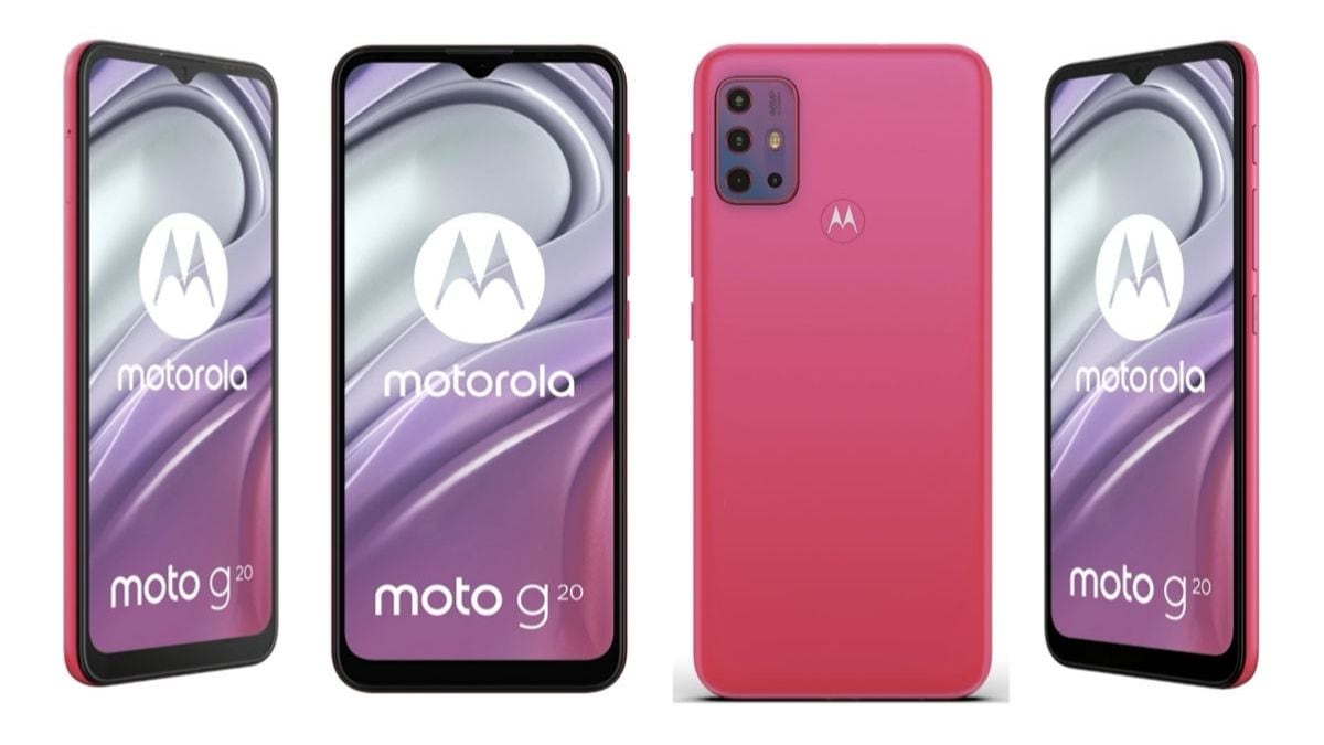 Moto G20 image renders, full specifications leaked