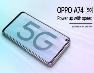 Oppo A74 5G India launch on April 20