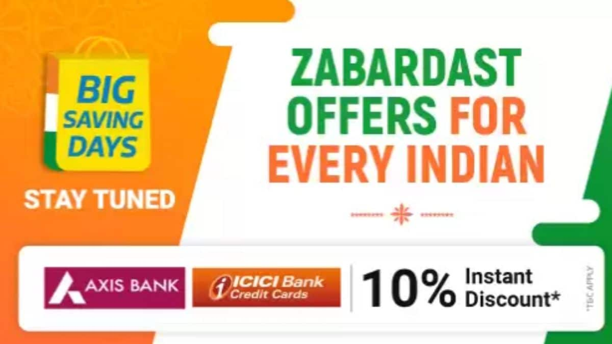 FlipkartBig Saving Days sale from Aug 6 to Aug 10: Details here
