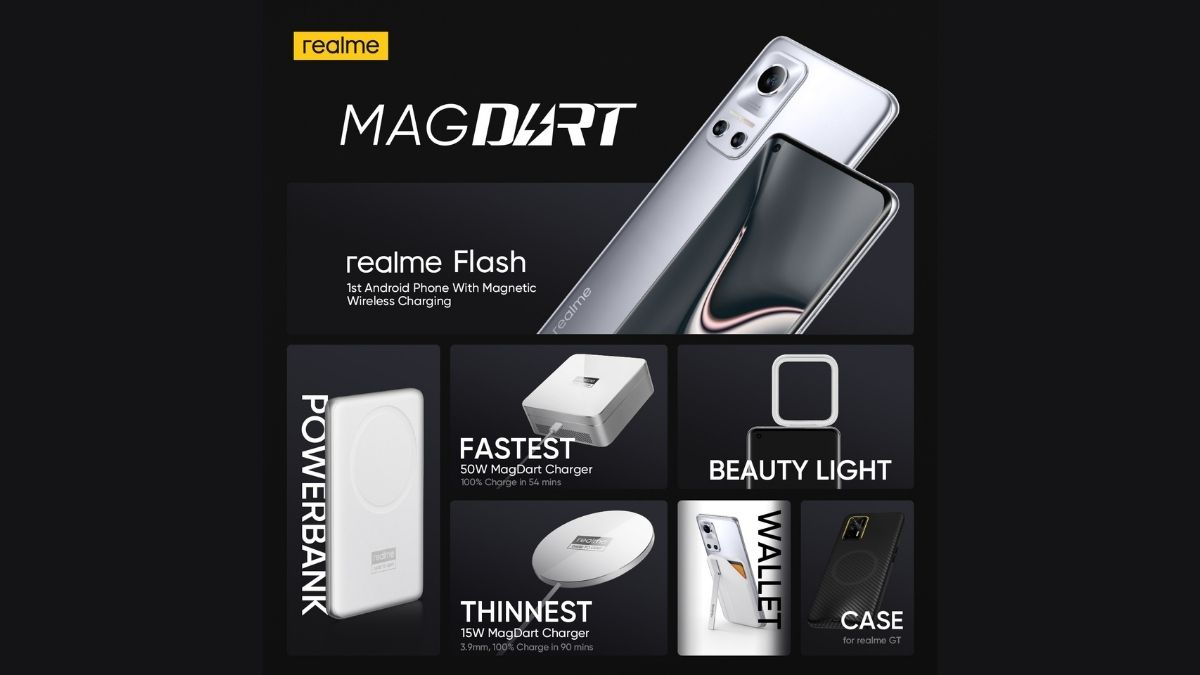 Realme unveils MagDart ecosystem with new 50W, 15W wireless charging solution, Powerbank