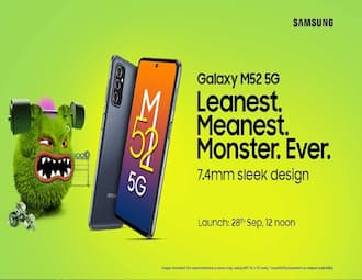 Samsung Galaxy M52 5G launching in India on September 28, release on Amazon website