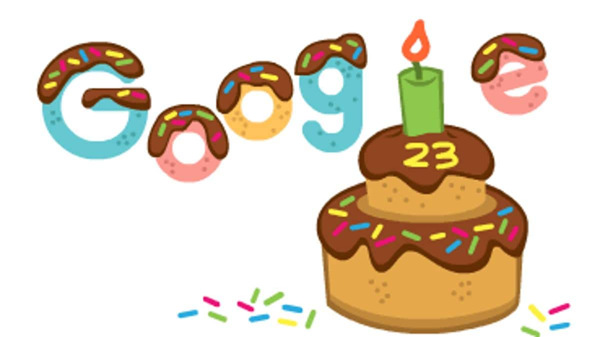 Google turns 23rd birthday today, creates an animated cake doodle
